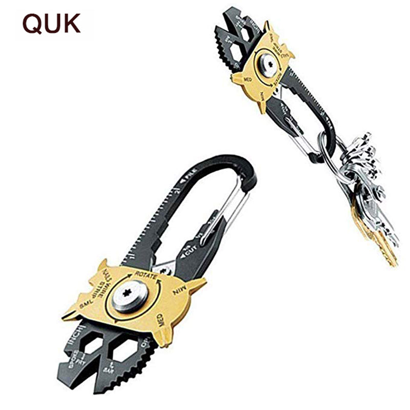 QUK Wrench 20in1 Multi-function Combination Tool Stainless Steel Screwdriver EDC Outdoor Portable Gadget 1/2 1/4 3/8 Hex Spanner