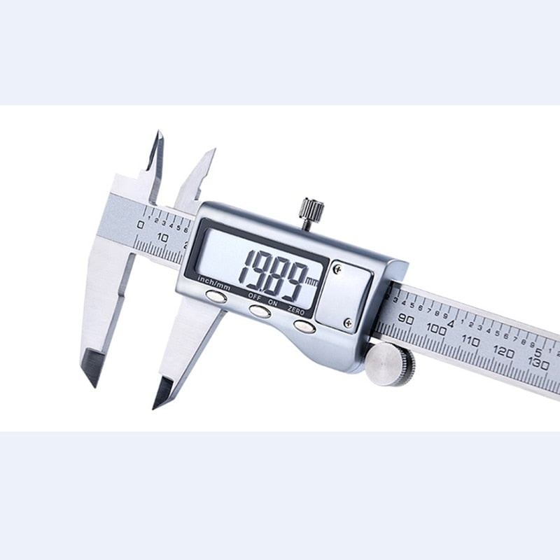 150mm 6inch Electronic Vernier Caliper LCD Digital Stainless Steel Woodworking Measuring Tool Sliding Ruler Micrometer Gauge