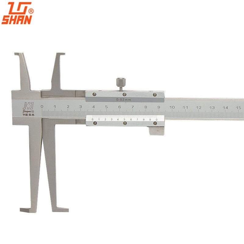 SHAN Inside Groove Vernier Caliper 9-150mm/0.02 Stainless Steel Inner Vernier Calipers Double Claw Professional
