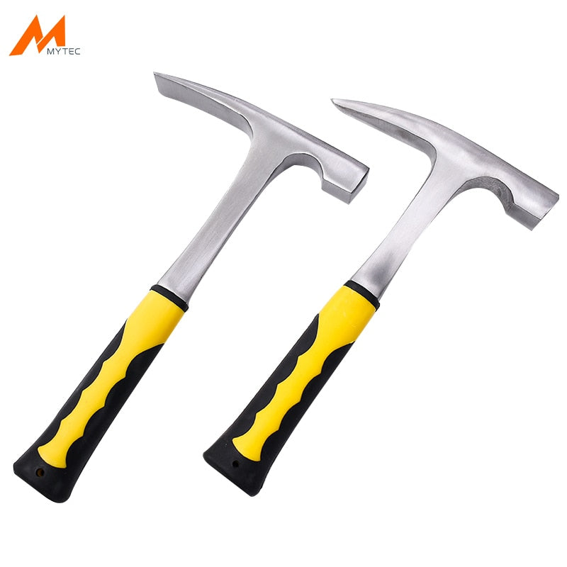 Geological Exploration Hammer Solid Steel Rock Pick with Pointed Tip Flat Tip Mineral Exploration Geology Hammer Hand Tool
