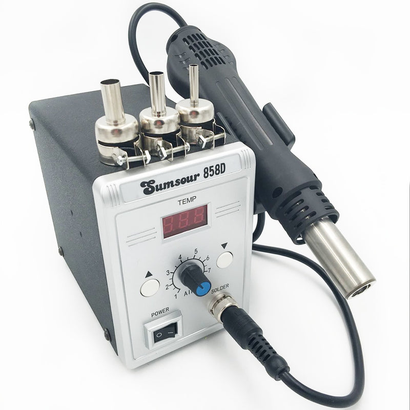 New Hot Air Gun 858D Desoldering Soldering Rework SMD Solder Station 110V / 220V 700W Heat Gun For Welding Repair Tools