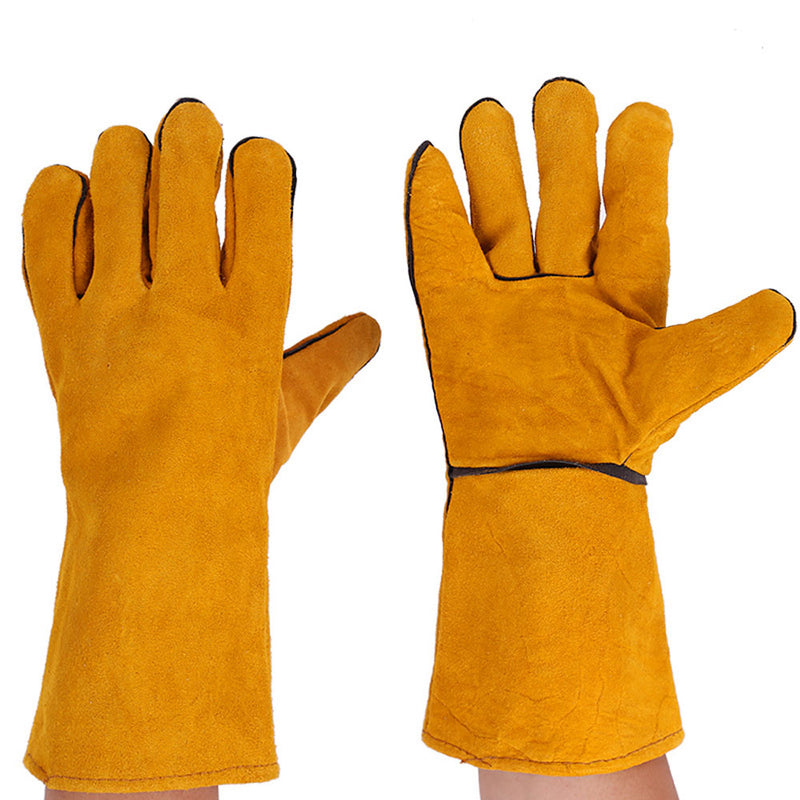35cm Leather Welder Gloves Wear-resistant Long Thickening For Tig Welders/Mig/Fireplace/Stove/BBQ/Gardening/Welding Mask