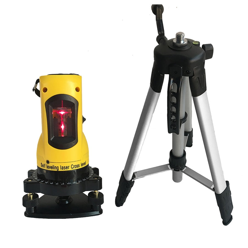 Laser level meter  360 degree self leveling  2 lines 1 point  horizontal vertical laser levels  635nm outdoor mode tripod