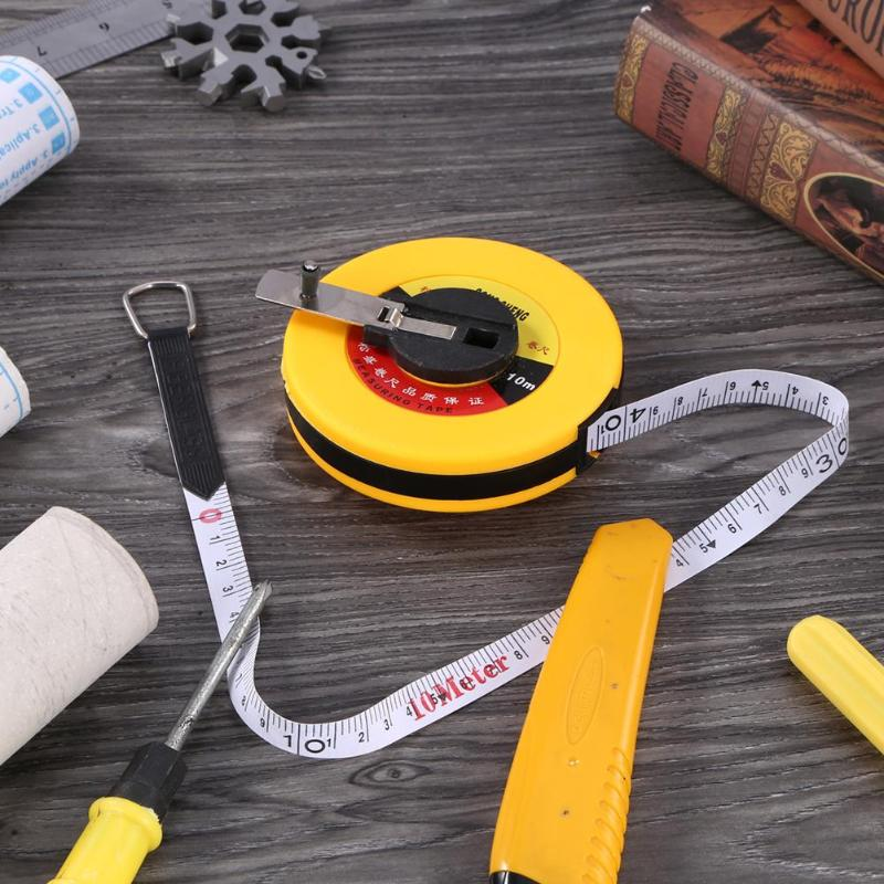 10/15/20/30/50m Measuring Ruler Hand Disc Flexible Ruler Measuring Tool Fiber Engineering Measuring Tape Hand Tools for Engineer