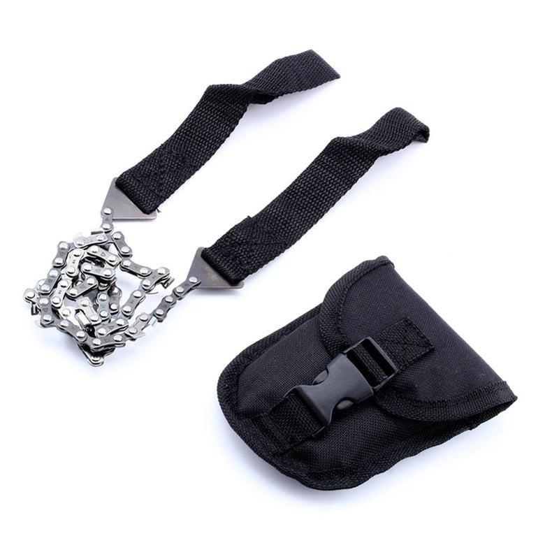 Emergency Gardening Hand tool Chainsaw With Nylon Bag Outdoor Survival Pocket Chain Saw Hand Chainsaw