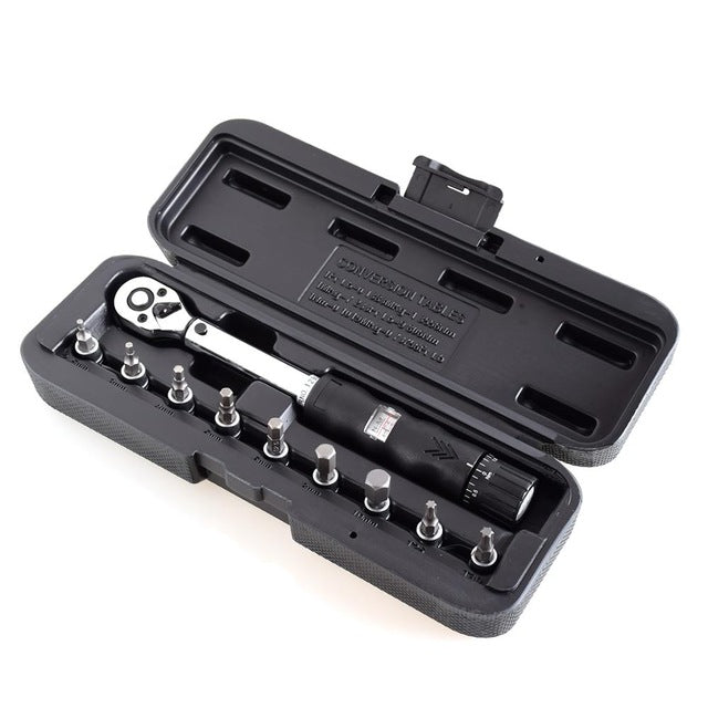 "1/4""DR Preset bike  torque wrench set Bicycle repair tools kit ratchet machanical  torque spanner manual torque wrench"