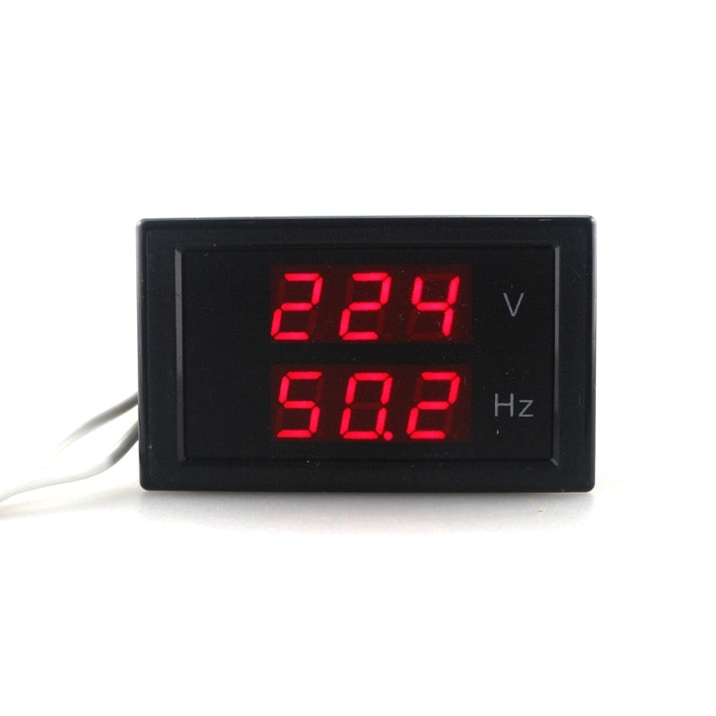 AC 80-300.0V 45-65HZ Dual Display Voltage Frequency Meter Counter Voltmeter Hertz/HZ Meter With Red Led
