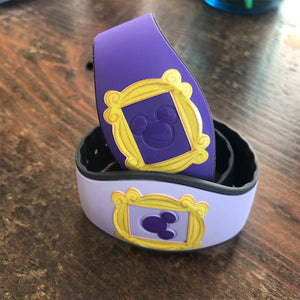 Friends Yellow Frame Glitter Puck Decal for MagicBand