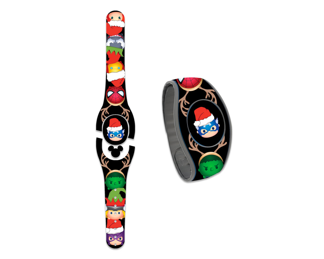 Christmas Superheroes Decal for MagicBand