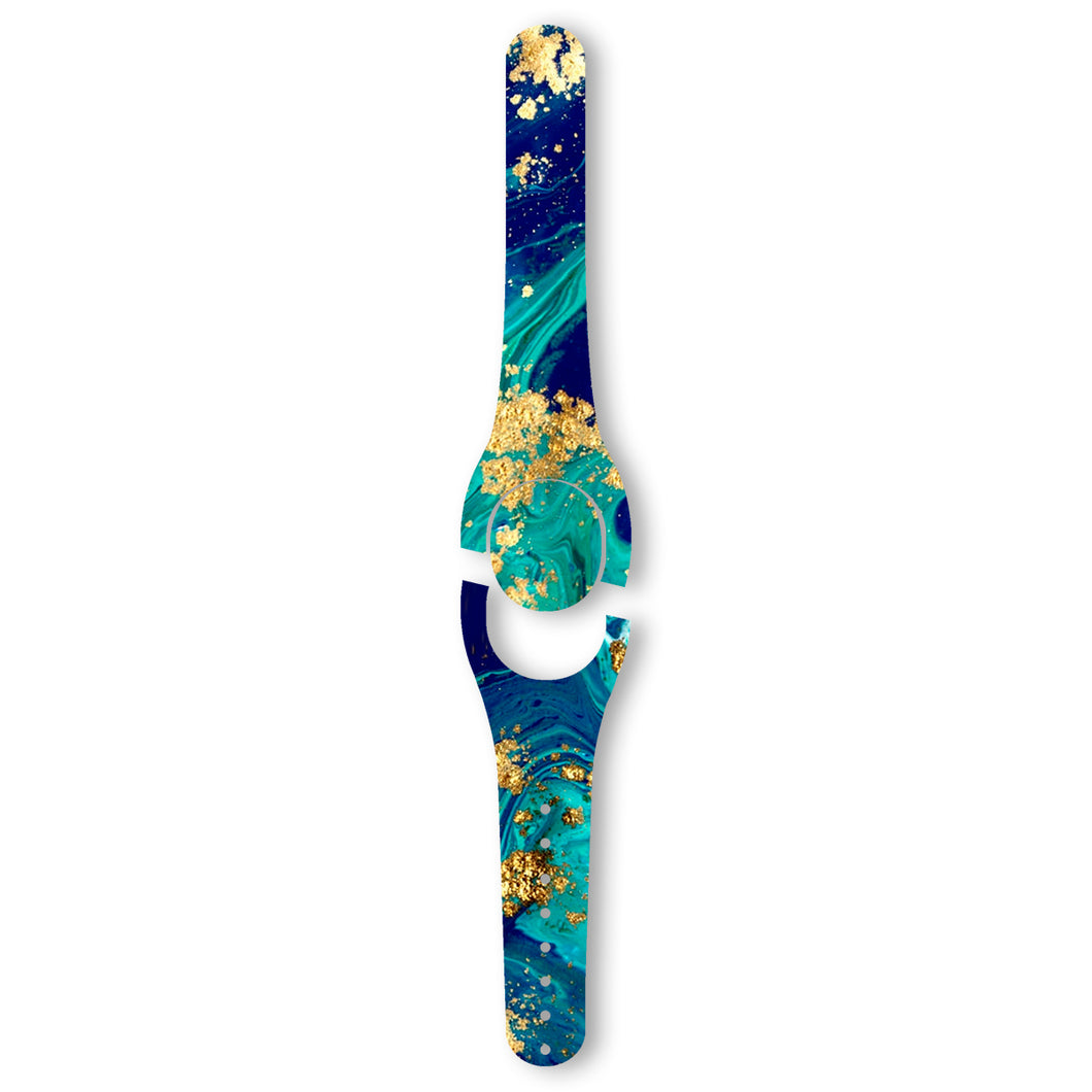 Blue and Gold Marble Decal for MagicBand