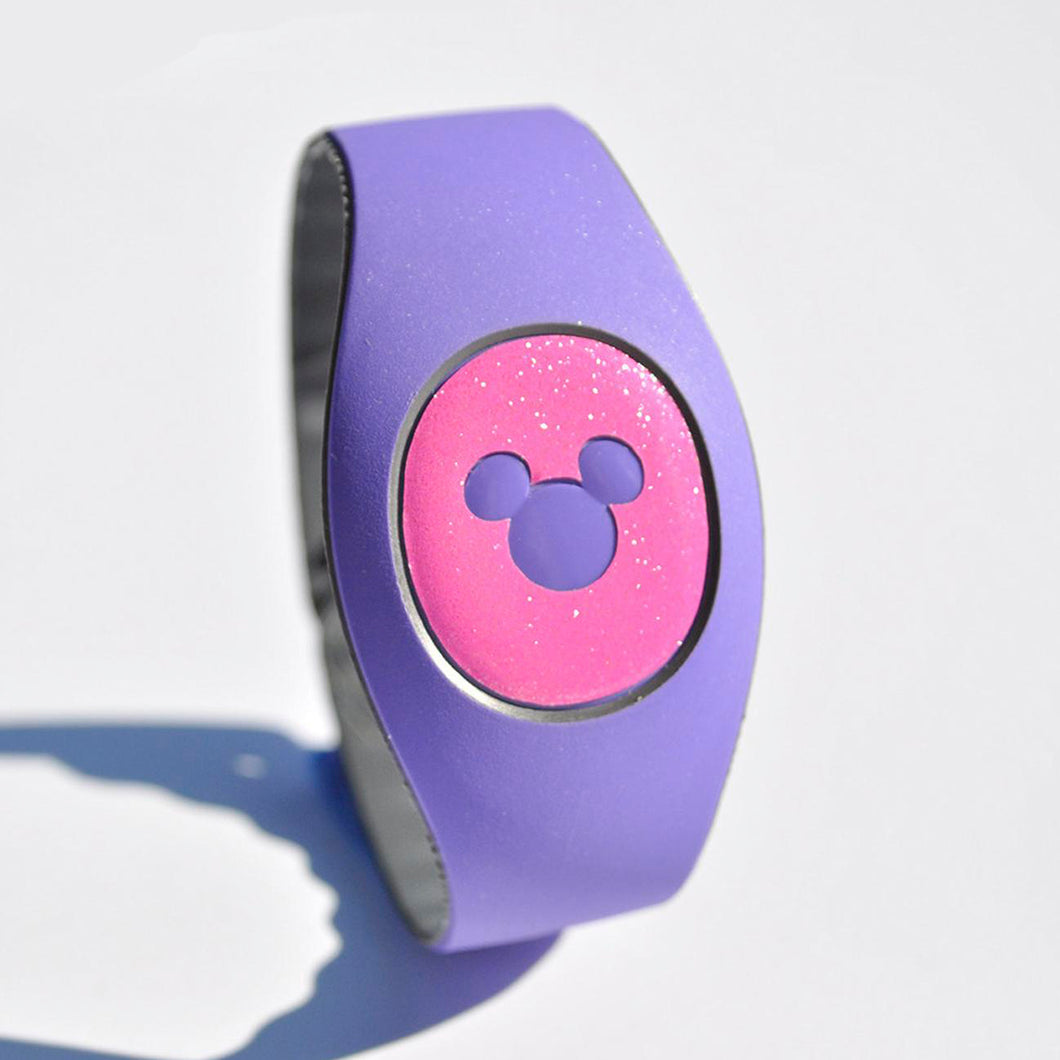 Glitter Magic Band Puck Decal