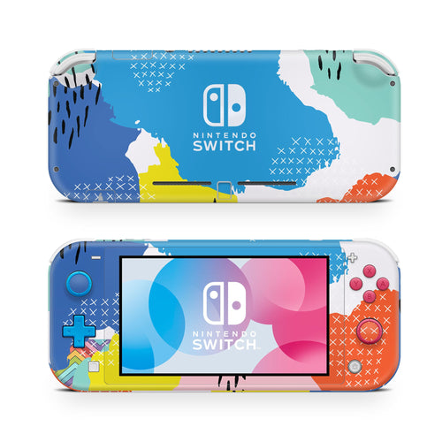 90's Primary Abstract Nintendo Switch Lite Skin