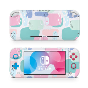 90's Pastel Abstract Nintendo Switch Lite Skin