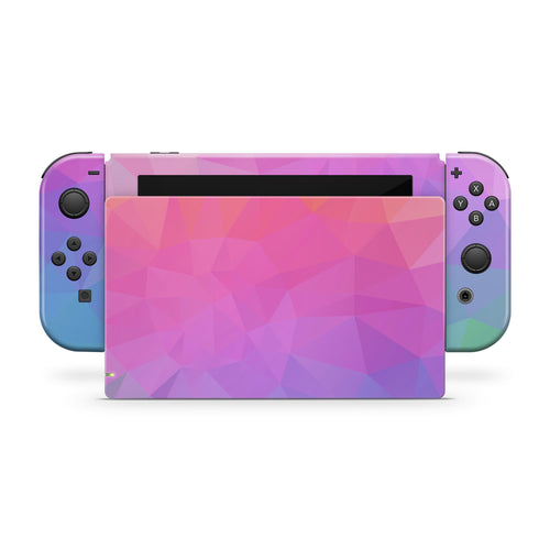 Abstract Triangles Ombre Nintendo Switch Skin