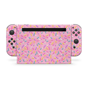 Pink Sprinkles Nintendo Switch Skin