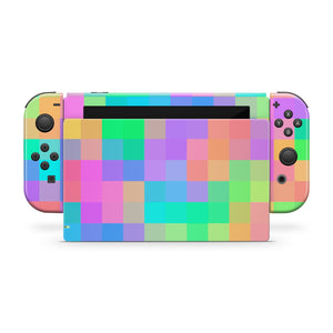 Pastel Blocks Nintendo Switch Skin