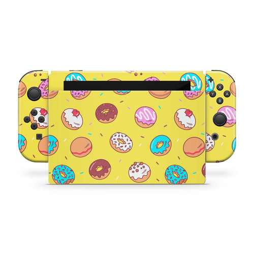 Yellow Donuts Nintendo Switch Skin
