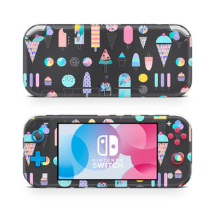 Abstract Ice Cream Scribbles Nintendo Switch Lite Skin