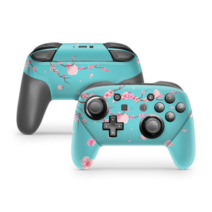 Japanese Cherry Blossom Nintendo Switch Pro Controller Skin