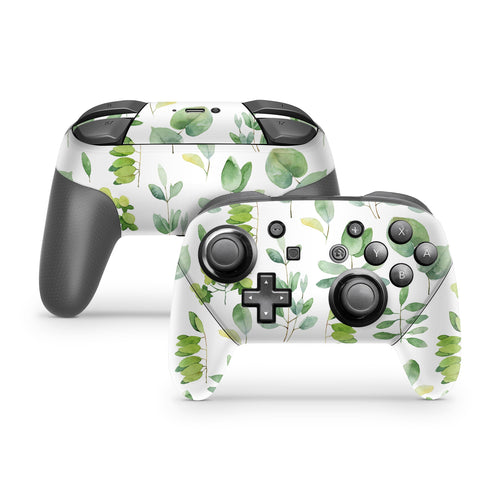 Watercolor Greenery Nintendo Switch Pro Controller Skin