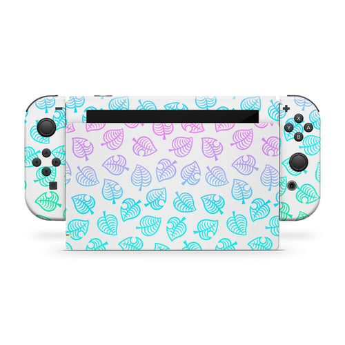 Ombre Leaf Nintendo Switch Skin