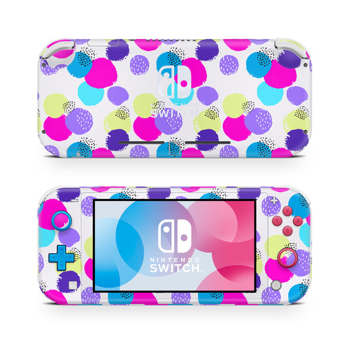 90's Bright Abstract Dots Nintendo Switch Lite Skin