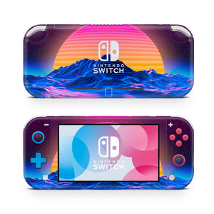 80's Outrun Vapor Sunset Nintendo Switch Lite Skin