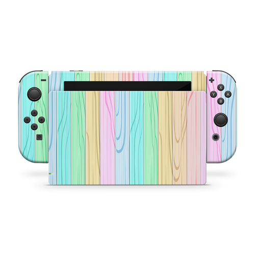 Popsicle Stick Wall Nintendo Switch Skin