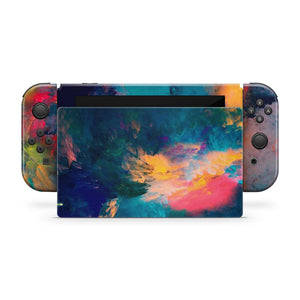 Colorful Smoke Clouds Nintendo Switch Skin