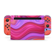 Red & Pink Paint Swirl Nintendo Switch Skin