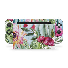 Watercolor Floral Cactus Nintendo Switch Skin