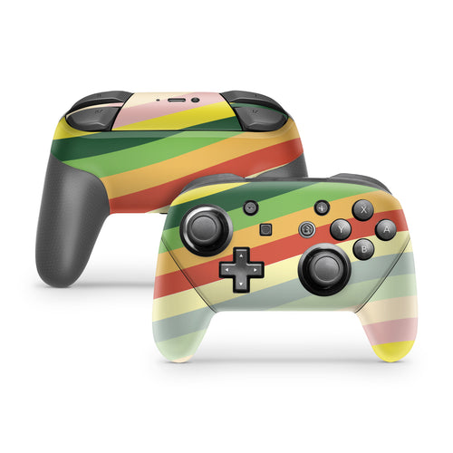 Retro Lines Nintendo Switch Pro Controller Skin