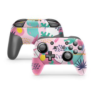 Pink Island Party Nintendo Switch Pro Controller Skin
