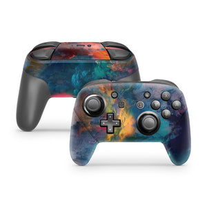 Colorful Smoke Clouds Nintendo Switch Pro Controller Skin
