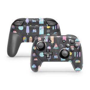 Abstract Ice Cream Scribbles Nintendo Switch Pro Controller Skin