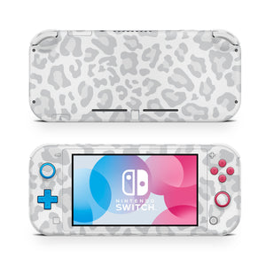 Gray Leopard Nintendo Switch Lite Skin