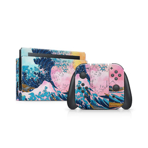 Watercolor Great Wave Nintendo Switch Skin