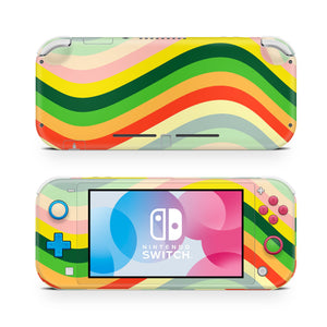 Retro Lines Nintendo Switch Lite Skin