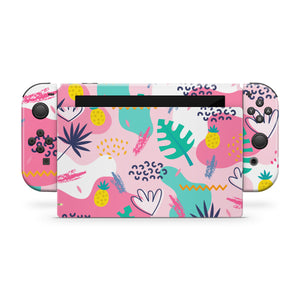 Pink Island Party Nintendo Switch Skin