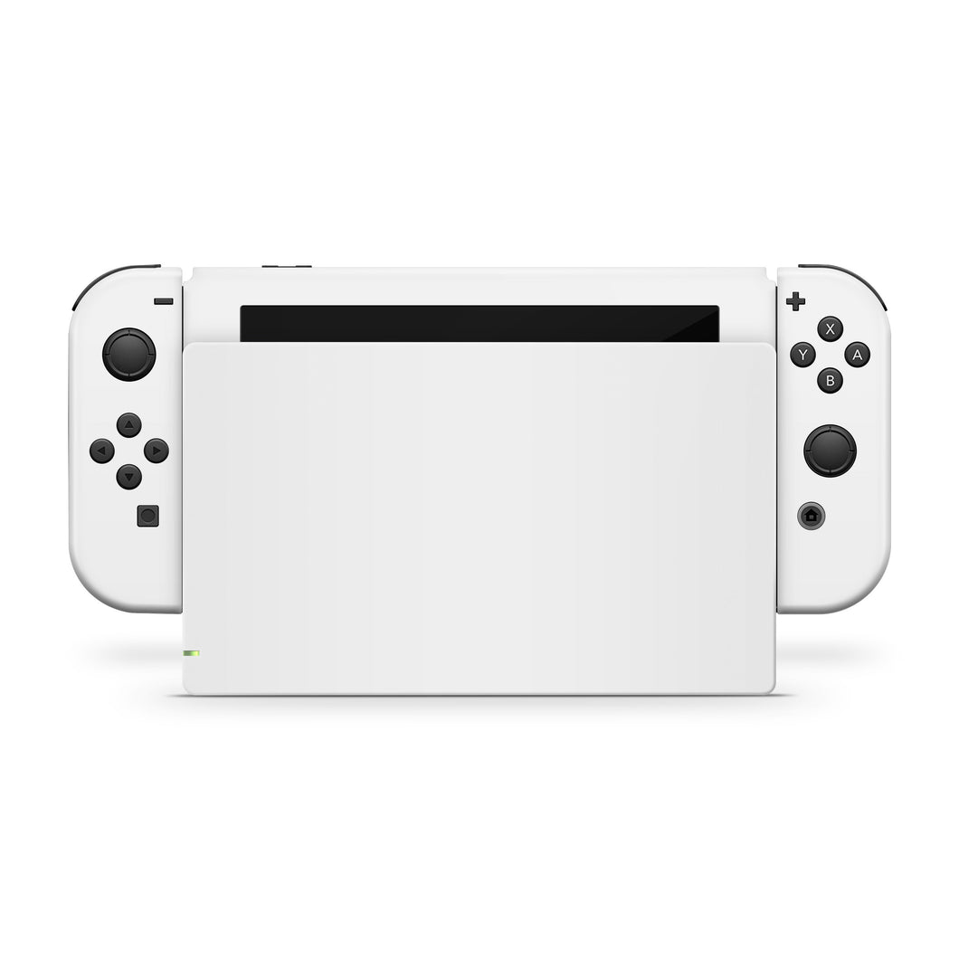 Solid White Nintento Switch Skin