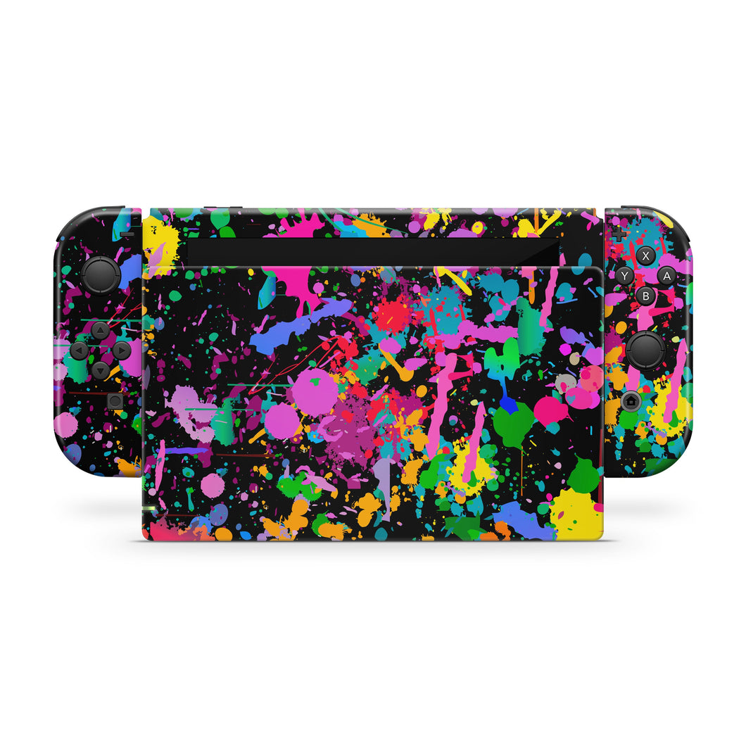 Layered Splatter Paint Nintendo Switch Skin