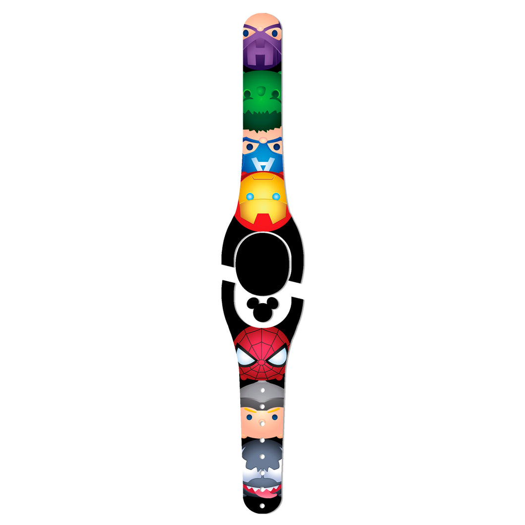 Superhero Faces Decal for MagicBand