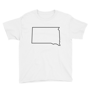 Dakota Outline Youth T-Shirt White