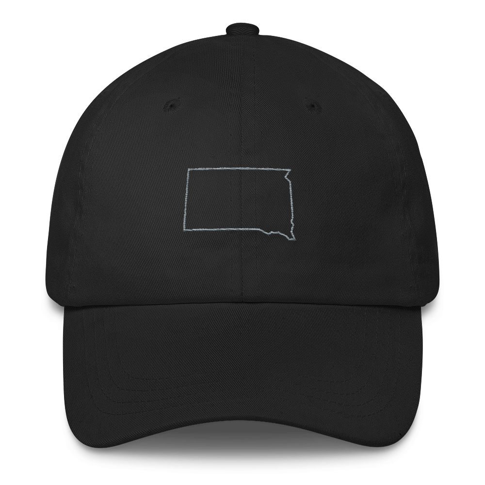 Dakota Outline Dad Hat Black