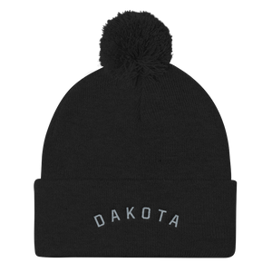 Dakota Pom Pom Hat Black