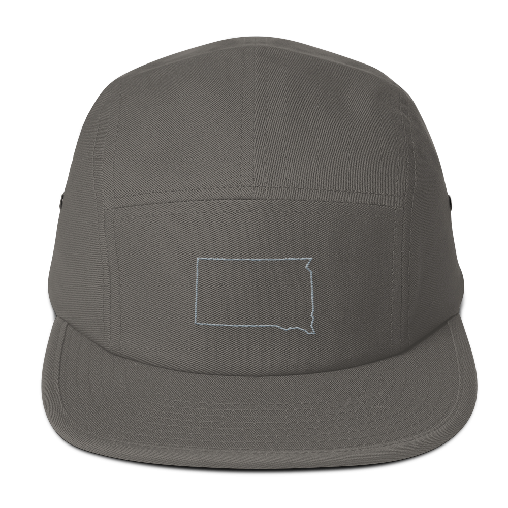 Dakota Outline 5 Panel Hat Gray