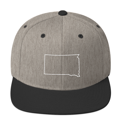 Dakota Outline Hat in Heather/Black
