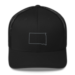 Dakota Outline Trucker Hat in Black