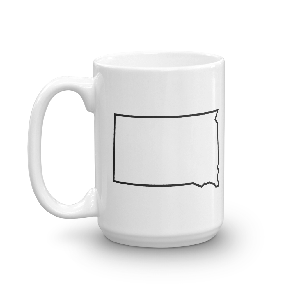 Dakota Outline 15 ounce Mug