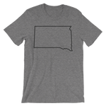 Dakota Outline T-Shirt Gray